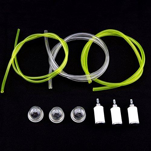Create Idear 3 x Bombas de imprimaci/ón 3 x Filtros de Combustible 3 x Tubo de Manguera de l/ínea de Combustible para McCulloch Trim 210 241 250 251 MA1230