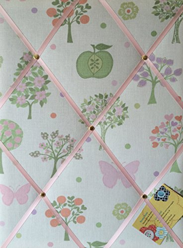 Middelgroot 40x30cm Laura Ashley Esme Apple Vlinder handgemaakte stof Notice/pin/Memo/Memory Board