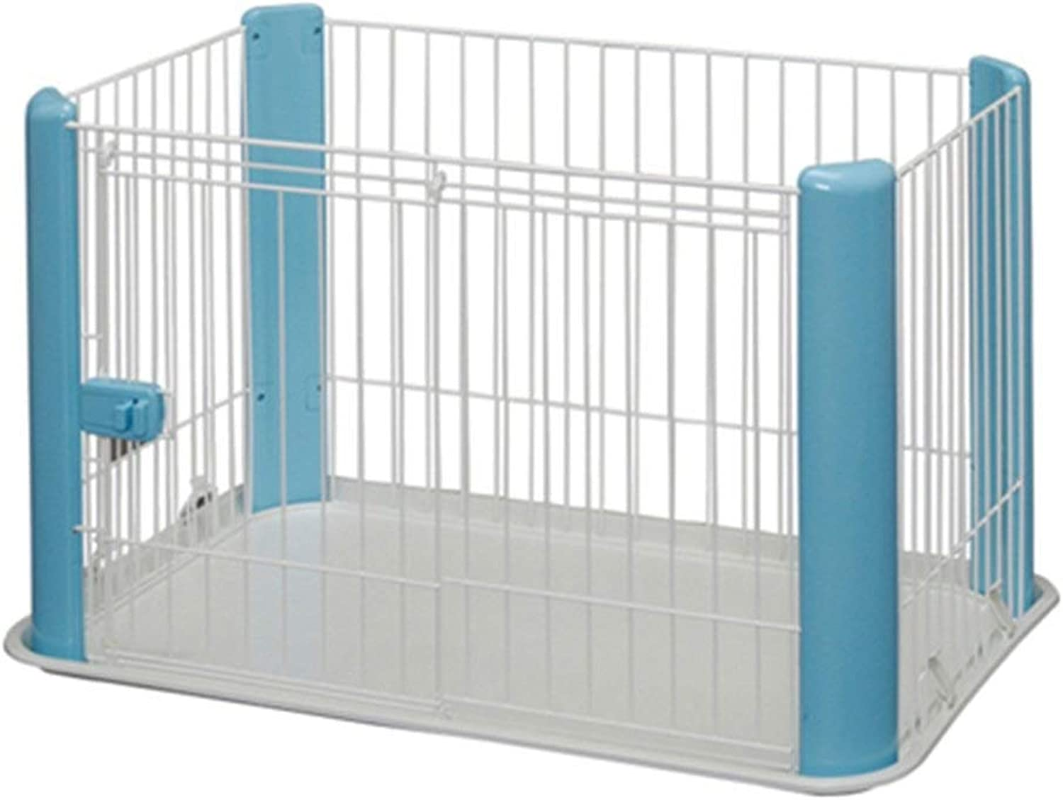 KXBYMX11 Dog cage small and medium dog fence portable white baby fence with door activity center indoor outdoor travel Safety fence (color   bluee)