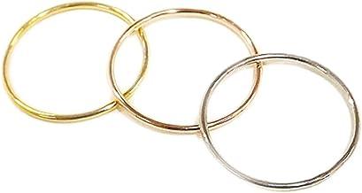 3個セット 極細リング 華奢リング シルバーリング シンプルリング ファランジリング ミディリング シルバーアクセサリー 3色 選べるカラー 手作り指輪 オーダー シルバー950 プレゼントにも (22)