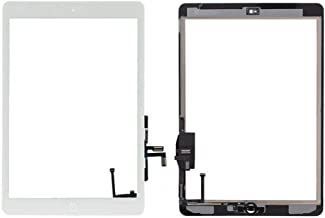 Turtlescreen Premium Quality Replacement Touch Screen Digitizer Front Glass for iPad Air 1st Generation with Home Button and Adhesive (Compatible Models: A1474, A1475, A1476) (White)