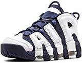 Men's More Breathable Uptempo '96 Non-Slip Wear-Resistant Training Athletic Comfortable Sneakers Air Cushion Fashion Basketball Shoes (Blue-White 1,10)
