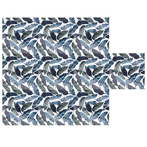 Yosoo123 10 Piezas de Pegatinas de Pared de Hojas Verdes, calcomanía de Pared Antideslizante Impermeable para el Suelo, Espejo Reflectante de Alta fidelidad, Efecto de azulejo de imitación