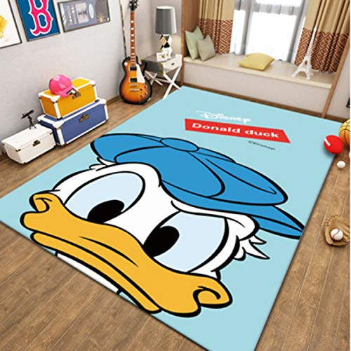 yinge Carpet Bedroom Living Room Bedside Cartoons Anime Donald Duck Short Pile Nursery Children Game Rugs Sofa Home Decoration Floor Anti-Slip Fashion