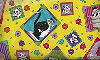 caterwauling cats fabric