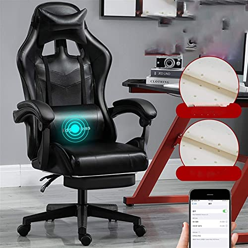 SuRose Sillas de juego, silla de ordenador, silla de oficina, para juegos, silla reclinable, silla atlética, silla de carreras con ancla, asiento rosa (color: rosa 3)
