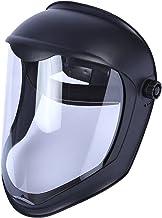 DYNWAVE Rosto Escudo Máscara Capacete w/Clear Viseira Anti NEVOEIRO óculos de Proteção Tampa de Segurança de Moagem, prote...