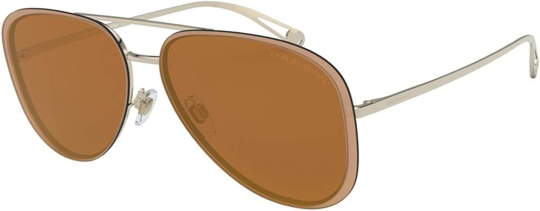 Giorgio Armani AR 6084 PALE gold BROWN gold women Sunglasses