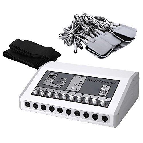 InLoveArts Muskelstimulator Maschine EMS Kombi-Gerät Elektrische Muskelstimulator Maschine Schmerzlinderung MassageTENS Einheit Nerven TENS Gerät Reizstromgerät mit Wärmefunktion