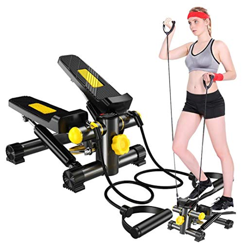 HADST Portable Fitness Steppers for Exercise Small & Quiet (15 MIN/Day), Climber Stair Stepper Machine with Resistance Bands, Aerobic Ab Thigh Exercise Fitness Workout Machine Mothers Day