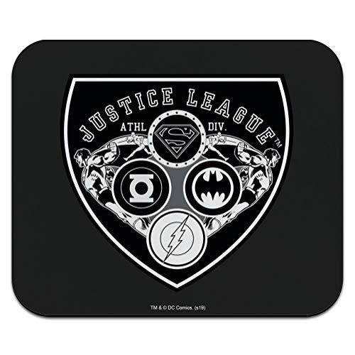 Justice League Athletic Shield Logo Low Profile Thin Mouse Pad Mousepad