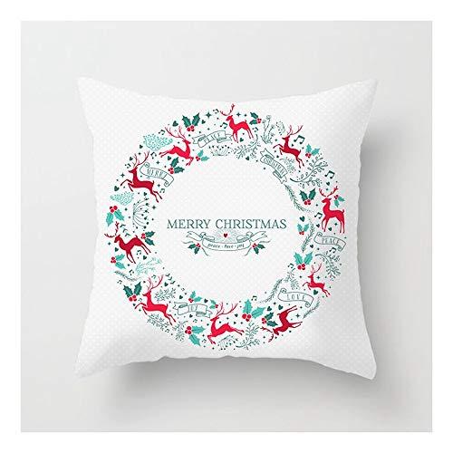 SHUCHANGLE (2pcs/Set) Decorazioni per La Casa di Natale Abbraccio Federa Ghirlanda Modello Elk Cuscino Federa