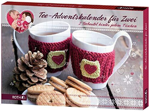 ROTH Tee-Adventskalender für zwei 2019 - 24 Türchen gefüllt mit je 2 Teebeutel Tee