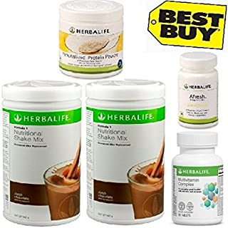 Herbalife Monthly Weight Loss Package: Formula 1 Chocolate + Multivitamin + Personalized Protein Powder Ppp + Afresh Lemon