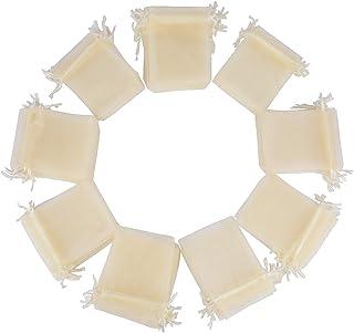 (10 * 12cm) 100pz Sacchetti Bustine Buste in Organza Confetti Portaconfetti Regalo Bomboniere Matrimonio Battesimo Complea...