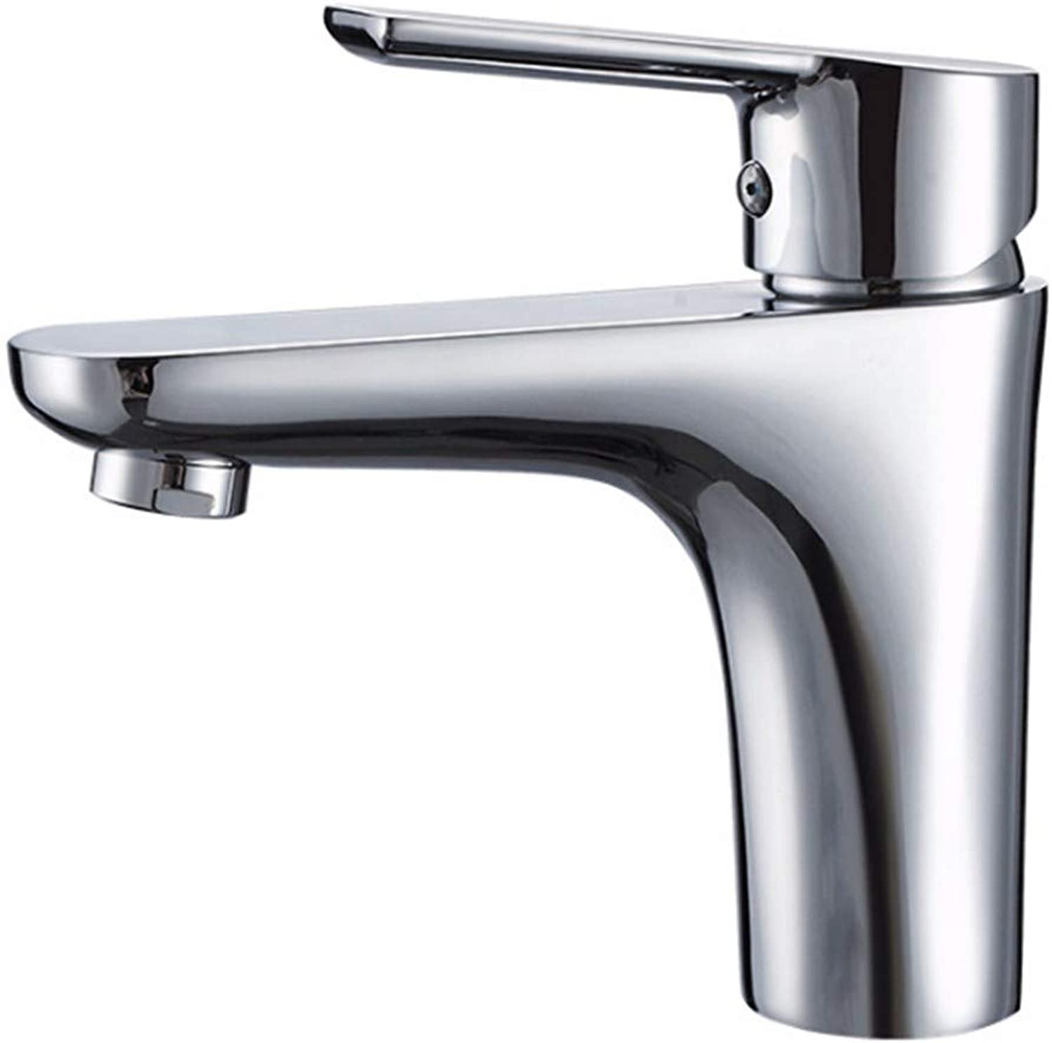 PatTheTap Faucet Retro Copper Silvery Tap for Bathroom Washbasin Sink Hot and Cold Water Mixing