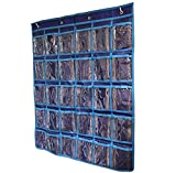 TFD Supplies - 30 Pocket Hanging Wall and Door Organizer for Jewelry, Small Electronics, and Earbuds