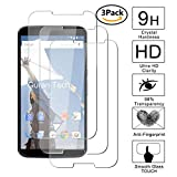 Guran [3 Pezzi] Pellicola Protettiva per Google Motorola Nexus 6 Smartphone Ultra Sottile Screen Protector in Vetro Temperato Film Ultra Resistente