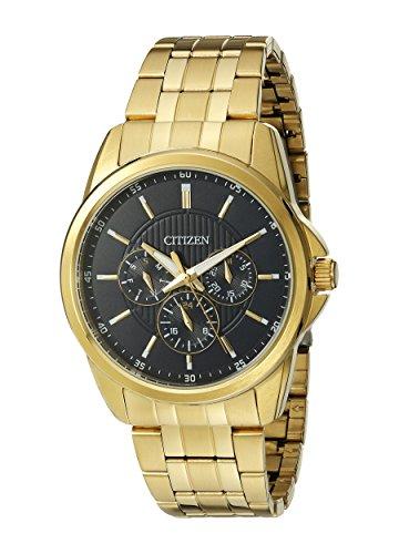Citizen Quartz Mens Watch, Stainless Steel, Classic, Gold-Tone (Model: AG8342-52L)