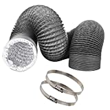 4 inch Vent Duct Hose 12 feet Long, CBTONE Flexible 4-Layers Aluminum Dryer Vent Hose Air Hose Great for HVAC Duct, Clothes Dryer Duct, Air Duct (2 Clamps Included)