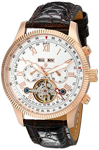 Burgmeister Armbanduhr für Herren mit Analog Anzeige, Automatik-Uhr und Lederarmband - Wasserdichte Herrenuhr mit zeitlosem, schickem Design - klassische Uhr...