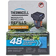 Thermacell Backpacker Mosquito Repellent Mat Only Refill Value Pack, 48 Hours