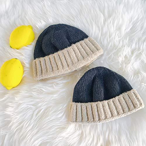 Geiqianjiumai wintermuts, voor kinderen, vrije tijd, outdoor, warm, gebreid, kleur passend bij de eenvoudige muts, meloenbont