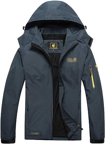 SJZC Veste Coupe Homme Ski Manteau Hommes Blouson De Impermeable Vent Pas Cher Hivers Pluie SurveteHommest021,bleu2,XL