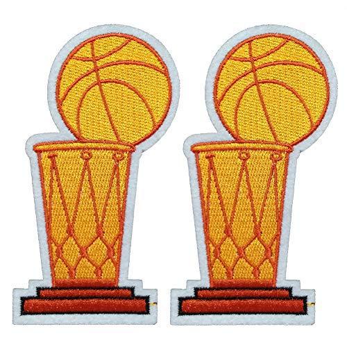 Larry O'Brien NBA Championship Trophäe zum Aufbügeln oder Aufnähen, bestickter Aufnäher für Jacken, Rucksäcke, Jeans und Kleidung, Emblem, Sportmotiv (Größe: 6,1 x 11,2 cm)