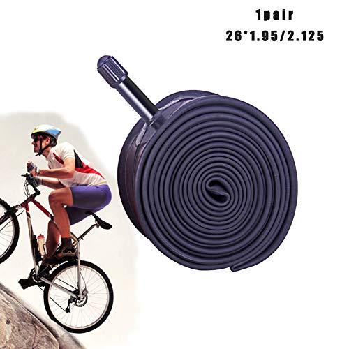 MILECN 1 Par De Tubos Interiores De Bicicleta De 26 Pulgadas con Válvula - Bicicleta De Montaña - Neumático De Bicicleta Plegable,Prácticos Accesorios para Bicicletas con Neumáticos,B