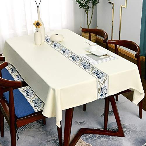 XQLSRJ Elegante y Lujoso Uropeaparala Lujo Mantel Bordado Mantel Rectangular Jacquard For Weding Banquete Cubierta De Mesa Se Pueden Personalizar, 7 Colores