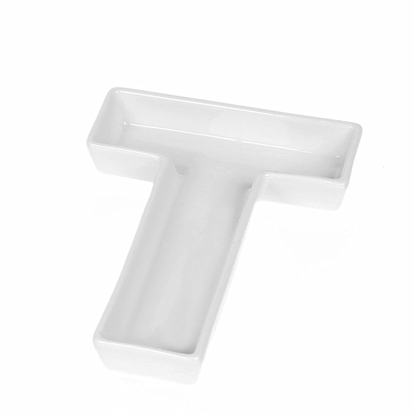 Coffeezone Candy/Nuts Decoration Ideas, Porcelain Dishes in Letter Shape, Wedding Decoration (Letter T)