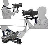 DSLR Rig película hombro Kit montaje fotografía Cámara hombro soporte transformadores multifuncionales DV DSLR estabilizador de amortiguación