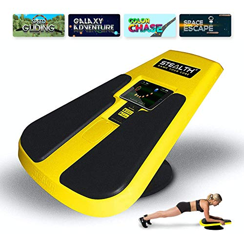 Stealth Core Trainer - Get a Lean Strong Core Playing Games On Your Phone; Free iOS/Android App; 4 Free Mobile Games Included; Dynamic Core Training; Increase Energy & Lose Body Fat in 3 Min/Day (Yellow)