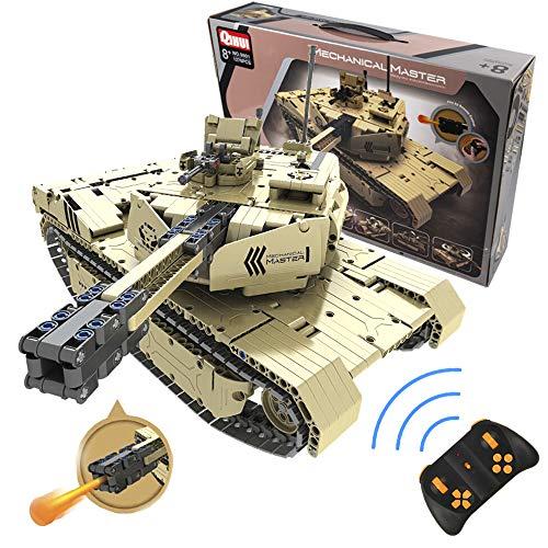 QIHUI Celman Tiger 1 RC Panzer Tank mit Schießen Kanone Mechanical Master Blocke 1276 Teilen