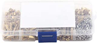 Standoff,Brass Standoff 360pcs M2.5 Brass Male-Female Standoff and Stainless Steel Hex Nuts Assortment in Box