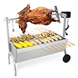 Fully Automatic Commercial Roast Suckling Pig Grill Stainless Steel Charcoal Grilled Lamb Leg Stove Home Self-Driving Barbecue
