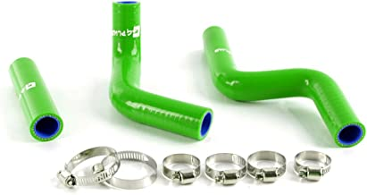 Silicone Radiator Coolant Hose Kit Clamps For Kawasaki KX 85 KX85 2001-2012 Green