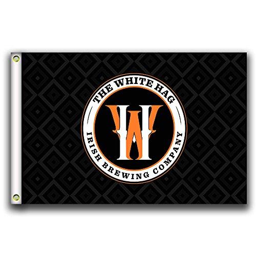 Home Koning De Witte Hag Vlag Banner 3X5FT 100% Polyester, Canvas Hoofd met Metalen Grommet Ontwerp 4
