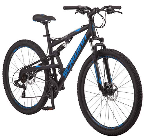 Check Out This Schwinn S29 Dual-Suspension Mountain Bike with 29-Inch Wheels in Black, Featuring 18-...