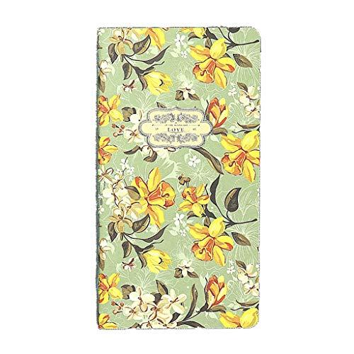 ZRJ Pequeño Cuaderno 2019 Planificador Retro Cuaderno en Blanco y Diario de Escritura Cumpleaños Separado Oxford Pocket Flor Cuaderno de Dibujo Regalos (Color : C, tamaño : 4PCS)