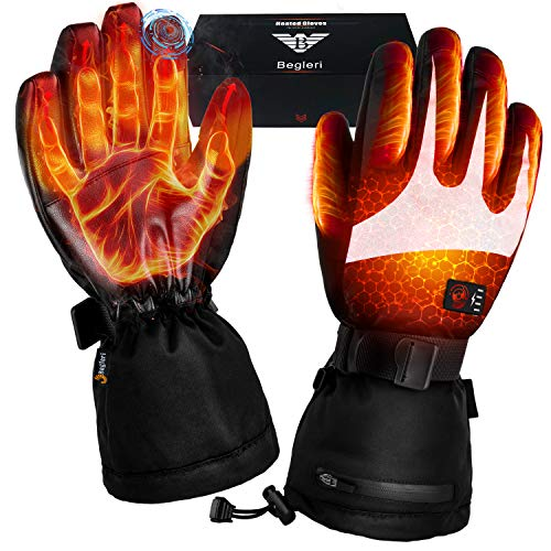Heated Gloves for Men Women - Electric Heating Gloves, Battery Heated Motorcycle Gloves Rechargeable