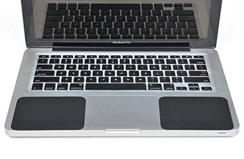 Cosmos Silicone Palm Wrist Rest Pads Set for Old MacBook Pro 13' / MacBook Air 13' Laptop Computer (Black)