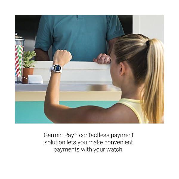 Garmin vívoactive 3 GPS Smartwatch – White & Stainless (Renewed)
