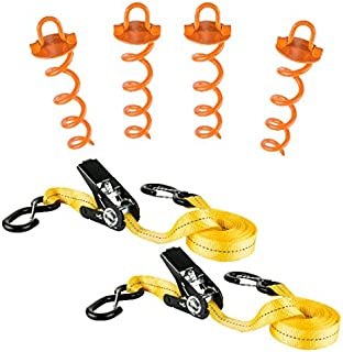 Keeper 05400 Severe Weather Kit (Includes 4 Anchors/2 Tie-Downs), 4 Pack