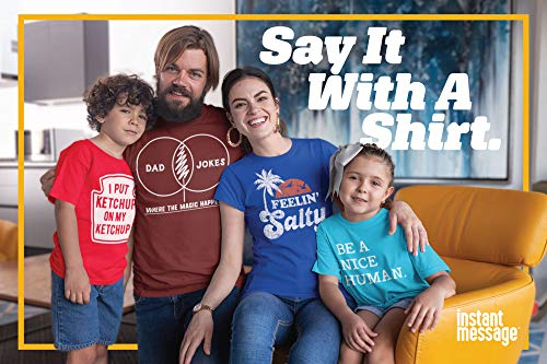 Instant Message Dad Joke Venn Diagram – Men's Short Sleeve Graphic T-Shirt