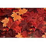 Biowow 120pcs Artificial Maple Leaves Fall Leaf Event Decoration Wedding Flowers Party Favor Random Color
