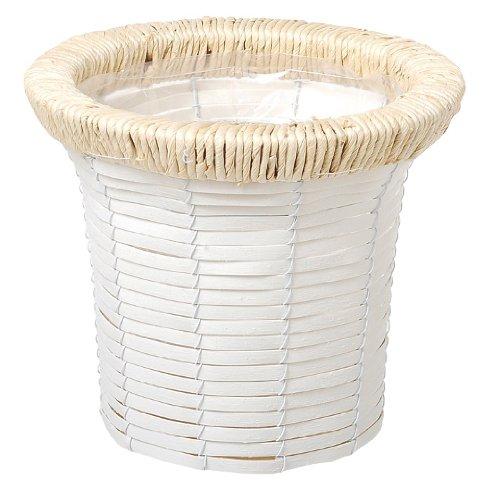 大橋新治商店 PE Basket ホワイトホルツプランター K5号 23-415 サイズ:約23×23×19cm