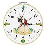 Xnuoyo Kits de Punto de Cruz con Reloj Juego Herramienta Bor