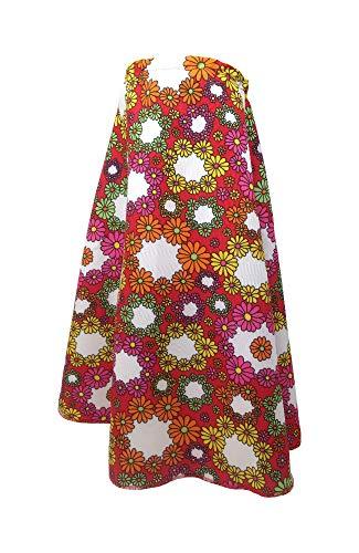 Marco Porta Hippie Stulpen Stirnband Set Flower Power Outfit 70er Jahre Schlager Kostüm Zubehör (Rot)